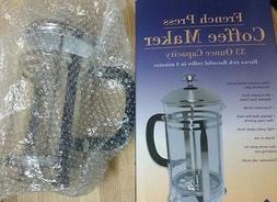 Update FP-33 33oz French Coffee Tea Press w/ Black Handle