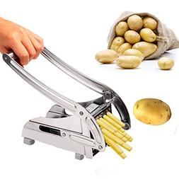 Balanu French Fry Cutter - Potato Slicer With 2 Interchangea