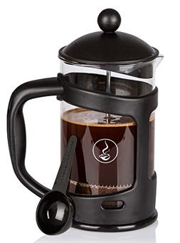 French Press, Wirezoll 1 Liter Coffee Maker with Double Filt