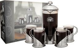 PURA VIDA FRENCH PRESS 4 CUPS COFFEE MAKER SET NEW IN BOX NI