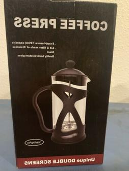 SterlingPro French Press 8-4oz Cups With Chrome Plated Doubl