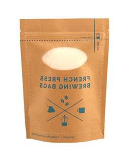 The Original French Press Brewing Bags - 50 Easy To Use Fine