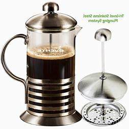 Ovente French Press Cafetière Coffee and Tea Maker, High-Gr