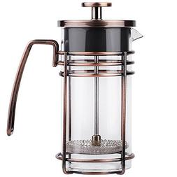 ZaKura French Press Coffee Maker, Tea Maker, Stainless Steel