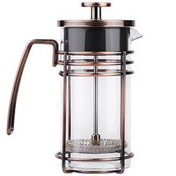 ZaKura French Press Coffee Maker, Tea Maker, Stainless Steel