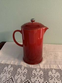 Le Creuset  French Press Cerise red 27 oz, Brand New, In box
