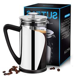 French Press Coffee Press 8 cup 34oz, Heat Resistant Borosil