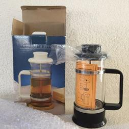 French Press Coffee & Tea Maker 3 Cup Travel Dorm Office Per