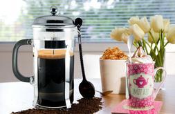 French Press Coffee & Tea Maker Complete Bundle 34 oz German