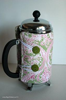 French press coffee press cozy for Bodum 6 cup coffee press,
