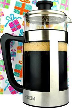 French Press Coffee Espresso Tea Maker 34 oz - Gift Box - Co