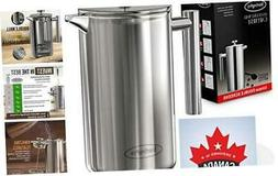 French Press Coffee Maker -Double Walled Large Coffee Press