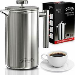 SterlingPro French Press Coffee Maker 1L-Double Walled Large