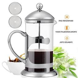 SAILNOVO French Press Coffee Maker 2 IN 1 Stainless Steel Fi