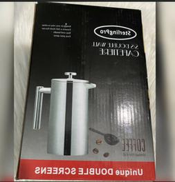 SterlingPro French Press Coffee Maker -Double Walled Large C