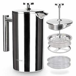 french press coffee maker 304 grade stainless