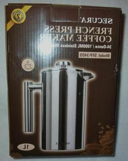 Secura French Press Coffee Maker ~ 304 Grade Stainless Steel