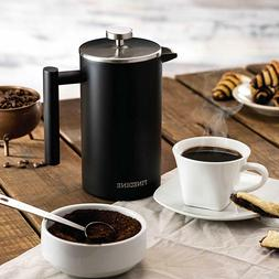Finedine French Press Coffee Maker -  18/8 Stainless Steel D