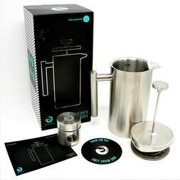 COFFEE GATOR French Press Coffee Maker 34 Oz Premium Quality