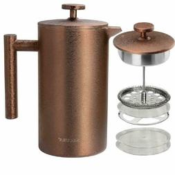 french press coffee maker 34oz 1000ml stainless