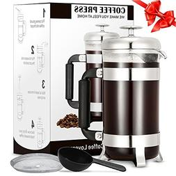 French Press Coffee Maker, TOP-MAX French Press Coffee & Tea