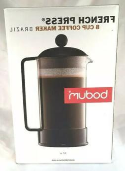 French Press Coffee Maker BODUM BRAZIL Model 1548 8 Cups - B