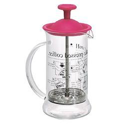 Hario French Press Coffee Maker Cafe Press Slim Cherry Red C