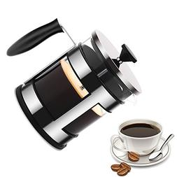 French Press Coffee Maker  Large French Press Glass and Stai