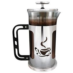 Ultimate Kitchen French Press Coffee Maker, 1 Liter , Chrome