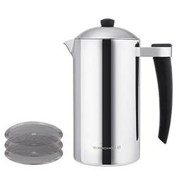 SONGMICS French Press Coffee Maker Double Walled Insulated 1
