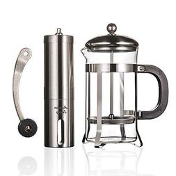 French Press Coffee Maker Heat Resistant Borosilicate Glass