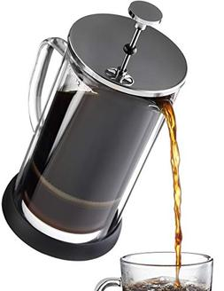 French Press Coffee Maker 34 oz - Double Glass Design Holds