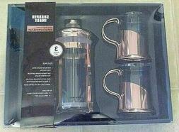 Sharper Image French Press Coffee Maker ROSE GOLD W 2 Glass