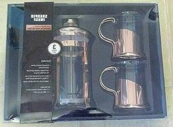Sharper Image French Press Coffee Maker ROSE GOLD W 2 Glass