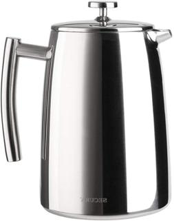 French Press Coffee Maker Stainless Steel 1500ML 18/10 50 Ou