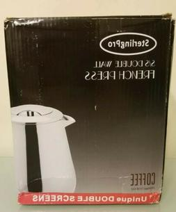 SterlingPro French Press Coffee Maker Stainless Steel