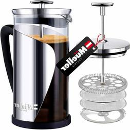 MUELLER FRENCH PRESS COFFEE Maker Stainless Steel Trumax Bor
