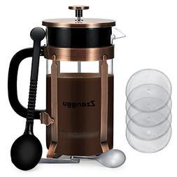 Zzanggu French Press Coffee Maker Tea Pot, Heat Retention Do