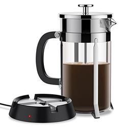 BREVO 8 Cup French Press Coffee Tea Maker with 35W Electric