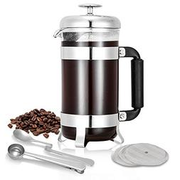 TOP-MAX French Press Coffee & Tea Maker Complete Bundle | 34