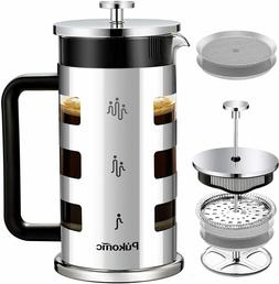 French Press Coffee Tea Maker 34 oz, 4 Level Filtration Syst