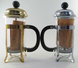 French Press Coffee Tea Maker 350cc 3 cup 12 oz. Silver OR G