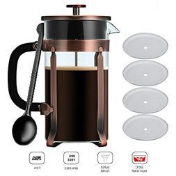 French Press Coffee/Tea Maker, NANAN 34 oz  Glass Coffee Pot