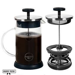 Osaka French Press Coffee and Tea Maker – Patent-Pending,