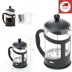 French Press Coffee Tea Maker Black 27 oz Heat Resistant Gla