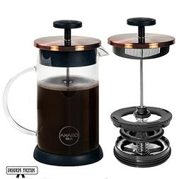 Osaka French Press Coffee and Tea Maker – Patent-Pending,