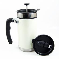 Desk Press Coffee Travel Mug - French Press with Brü-Stop T