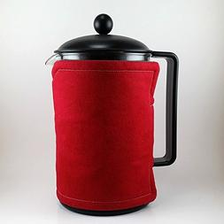 12 Cup French Press Cozy Red
