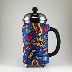 French Press Cozy Cover, 8 cup, Comic Book Geeky