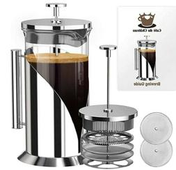 French Press Double Insulated, Stainless Steel Coffee Maker